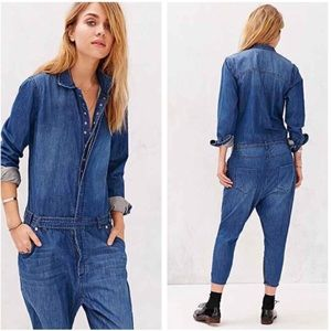 One Teaspoon - Urban Outfitters Chambray Jumpsuit